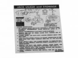 1971 Mustang  Jack Instructions (Space Saver Wheel, Late 1971)