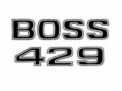Stripes & Decals - Emblem & Badge Decals - Scott Drake - 69-70 Mustang Boss 429 Fender Decal (Black)