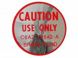 1966 Mustang  Disc Brake Master Cylinder Decal
