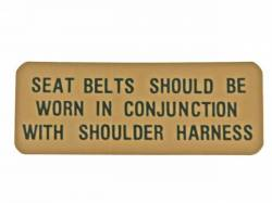Stripes & Decals - Interior Decals - Scott Drake - 1967 - 1970 Mustang  Shelby Sun Visor Seat Belt Decal