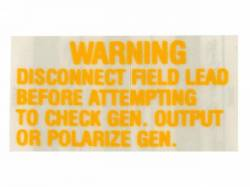 Stripes & Decals - Engine Compartment Decals - Scott Drake - 1964 - 1966 Mustang  Voltage Regulator Warning Decal