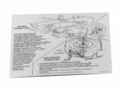 1967 Mustang  Jack Instructions (Early 1967)