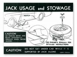 1968 Mustang  Jack Instructions (Styled Wheel)
