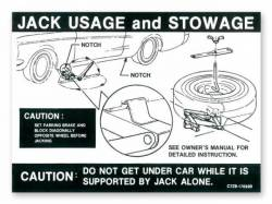 1967 - 1968 Mustang  Jack Instructions (Late 1967, 1968)
