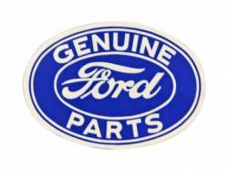 "Stripes & Decals - Misc Decals & Tags - Scott Drake - 3"" Ford Geniune Parts Oval Decal"
