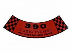 Stripes & Decals - Engine Compartment Decals - Scott Drake - 67-69 Mustang Air Cleaner Decal (390 4V Premium Fuel)