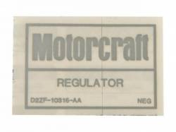Stripes & Decals - Engine Compartment Decals - Scott Drake - 1972 - 1973 Mustang  Voltage Regulator Decal