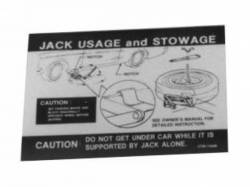 1969 - 1970 Mustang  Jack Instructions (Styled Wheel)