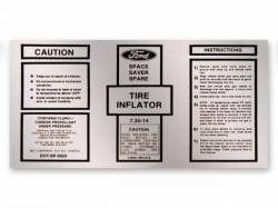 1969 Mustang  Space Saver Inflator Bottle Decal