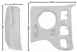 Body - Cowl - Dynacorn - 69 - 70 Mustang Inner LH A Pillar Panel- 2 Piece