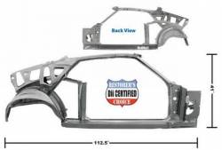 Frame - Assemblies - Dynacorn - 69 Mustang Fastback Quarter and Door Frame RH