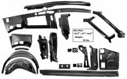 Frame - Assemblies - Dynacorn - 67 - 68 Mustang Fastback Quarter and Door Frame Sheet Metal Component Kit, RH