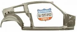 Quarter Panel - Complete - Dynacorn - 67 - 68 Mustang Fastback LH Quarter And Door Frame