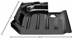 Floor Pan - Sections - Dynacorn - 71 - 73 Mustang Floor Pan REAR Section, Left Hand