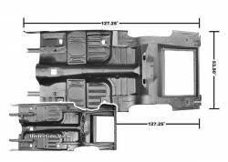 Floor Pan - Complete - Dynacorn - 65 - 68 Mustang Complete Floor & Trunk Pan, Coupe/Fstbk