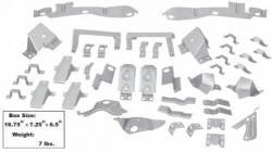 Trim Panels - Quarter Panels - Dynacorn - 67 - 68 Mustang Fastback Body Bracket Kit, 42 Pc