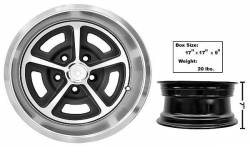 Wheels - 15 Inch - Dynacorn - 65 - 73 Mustang Magnum Style 15 X7 Wheel w/ Center