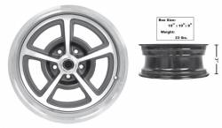 Dynacorn - 17 x 7 Magnum 500 Alloy Wheel with Center Cap and Decal