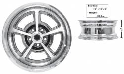 Dynacorn - 17 x 7 Magnum 500 Alloy Wheel Chrome