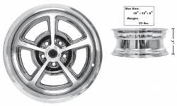 Dynacorn - 17 x 7 Magnum 500 Alloy Wheel Chrome