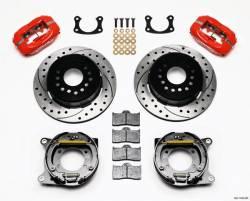 Wilwood Engineering Brakes - Mustang Wilwood Rear Disc Brake Kit, Slotted, RED