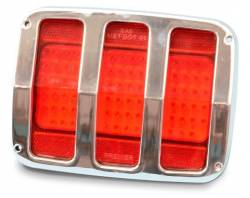 64 - 66 Mustang Gloss Black Anodized Tail Light Bezels, Smooth