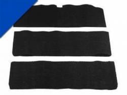 Carpet & Related - Fold Down Seat Carpet - Scott Drake - 65-68 Mustang Fold-Down Seat Carpet (Bright Blue 80/20)