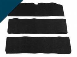 Carpet & Related - Fold Down Seat Carpet - Scott Drake - 65-68 Mustang Fold-Down Seat Carpet (Dark Blue, 80/20)