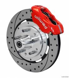 Disc Brakes - Brake Kits - Wilwood Engineering Brakes - 65 - 69 Mustang Wilwood Front Disc Brake Kit, RED