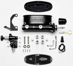 Master Cylinders & Boosters - Master Cylinder - Wilwood Engineering Brakes - 65 - 73 Mustang Wilwood Master Cylinder Combo Kit, Black