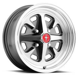 Legendary Wheel Co. - 64 - 73 Mustang 15 x 6 Legendary Magnum 400 Alloy Wheels Charcoal / Machined