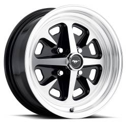Wheels - 15 Inch - Legendary Wheel Co. - 64 - 73 Mustang 15 x 6 Legendary Magnum 400 Alloy Wheels- Gloss Black / Machined
