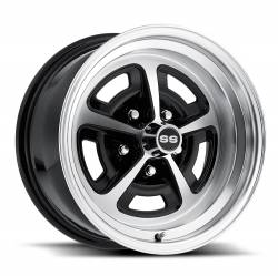 Wheels - 15 Inch - Scott Drake - 64 - 73 Mustang 15 x 8 Magnum Alloy Wheel- Gloss Black / Machined