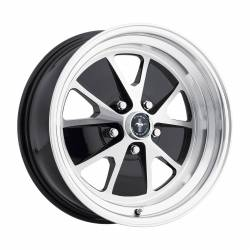 Wheels - 17 Inch - Scott Drake - 64 - 73 Mustang 17 x 7 Styled Alloy Wheel - Gloss Black / Machined