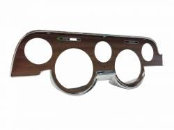 Dash - Instrument Bezels - Scott Drake - 67 - 68 Mustang Custom Gauge Bezel- Walnut Woodgrain