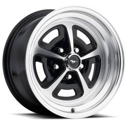 Wheels - 16 Inch - Scott Drake - 69 - 73 Mustang 16 x 8 Magnum Alloy Wheel- Gloss Black / Machined