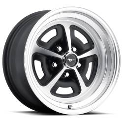 Wheels - 15 Inch - Scott Drake - 69 - 73 Mustang 15 x 7 Magnum Alloy Wheel, 5 on 4.5 BP, 4.25 BS-Stain Black/Satin Finish