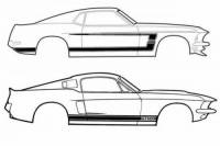 1964-1973 Mustang Parts - Stripes & Decals - Stripe Kits