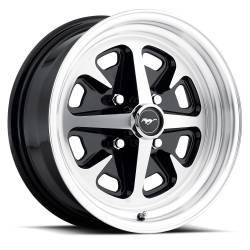 Wheels - 15 Inch - Legendary Wheel Co. - 74 - 78 Mustang II 15x6 Magnum 400 Wheel- Gloss Black/ Machined