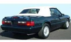 Convertible Top - Top & Window - Scott Drake - 83 - 90 Mustang Black Convertible Top W/ Glass