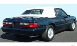 Convertible Top - Top & Window - Scott Drake - 83 - 90 Mustang Black Convertible Top W/ Plastic