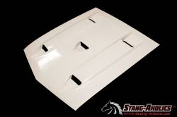 Fiberglass - Shelby - Stang-Aholics - 69 - 70 Mustang Shelby Style Fiberglass Hood, WITHOUT Ram Air Chamber
