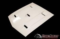 Fiberglass - Hoods - Stang-Aholics - 69 - 70 Mustang Shelby Style Fiberglass Hood, WITHOUT Ram Air Chamber