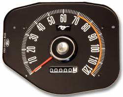 Gauges - Stock Gauges - Scott Drake - 1969 Mustang Speedometer, Black Face