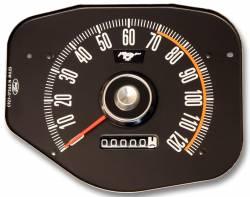 1969 Mustang Speedometer, Black Face