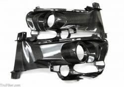 Valance - Front - TruFiber - 15 - 16 Mustang Carbon Fiber LG237 Fog Light Bezels