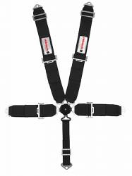 Seats & Components - Seat Belts - RideTech - 1965 - 1973, 1979-2016 Mustang  RideTech Seat Belt, Black, 5 Point Harness