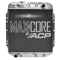 All Classic Parts - 65 - 66 Mustang 6 Cylinder Aluminum MaxCore Radiator (OE Style 3 Row Plus)