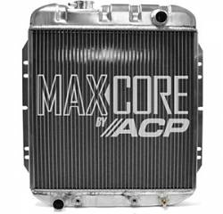 Radiators - 2 - Core - All Classic Parts - 65 - 66 Mustang 6 Cylinder Aluminum MaxCore Radiator (OE Style 2 Row Performance)