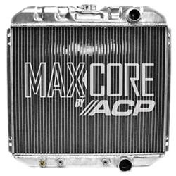 Radiators - 2 - Core - All Classic Parts - 67 - 69 Mustang, V8 289/302/351 Aluminum MaxCore Radiator (OE Style 2 Row Performance)